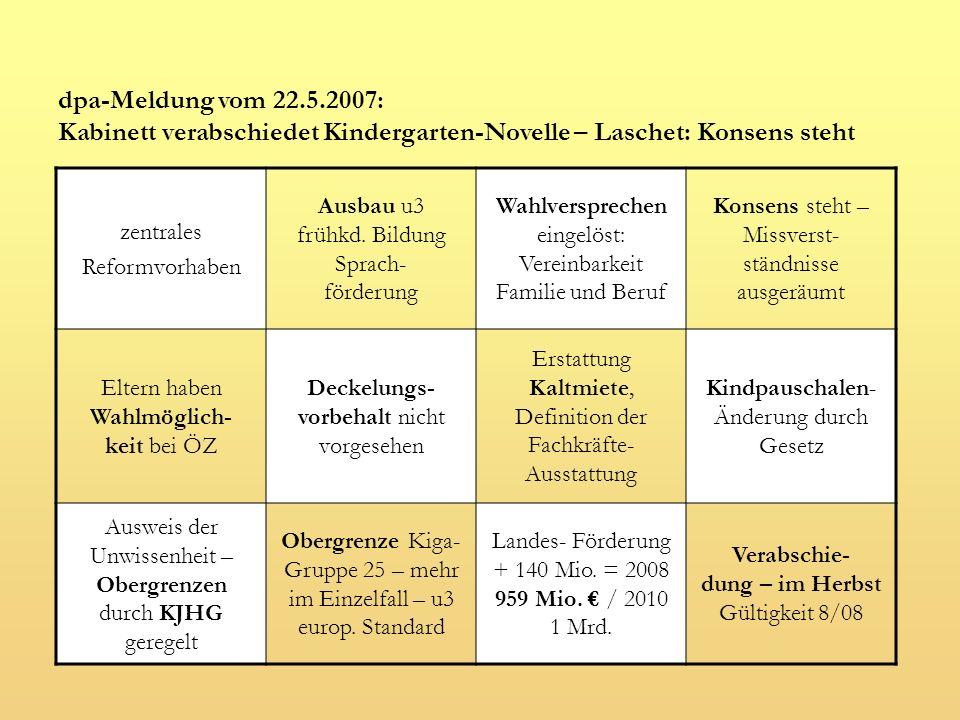 Pauschalen (Diese Werte entstammen dem Konsenspapier vom 26.2.2007.