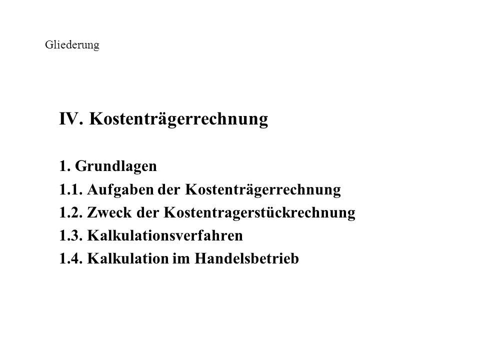 Gliederung VI.Plankostenrechnung 1. Aufgaben der Plankostenrechnung 2.