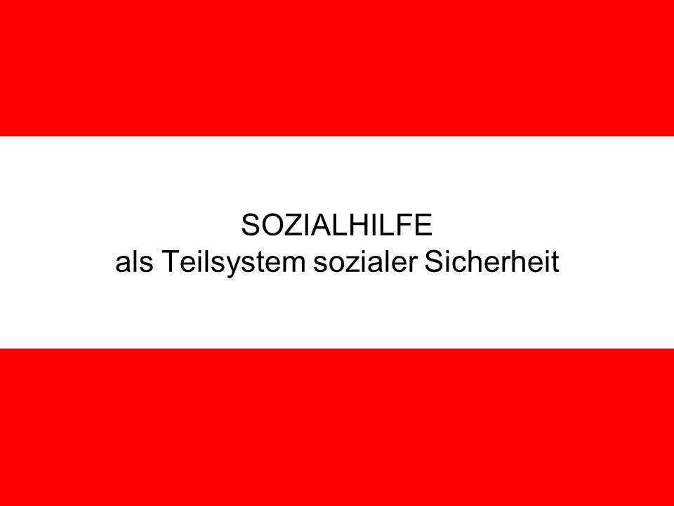 J. Petscharnig & G. Spiel SOZIALHILFE als Teilsystem sozialer Sicherheit