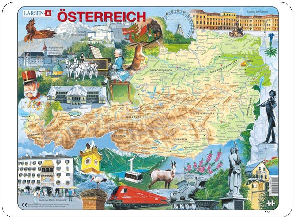obr.1 Physical Map of Austria | Map of Austria Region Geography Political.