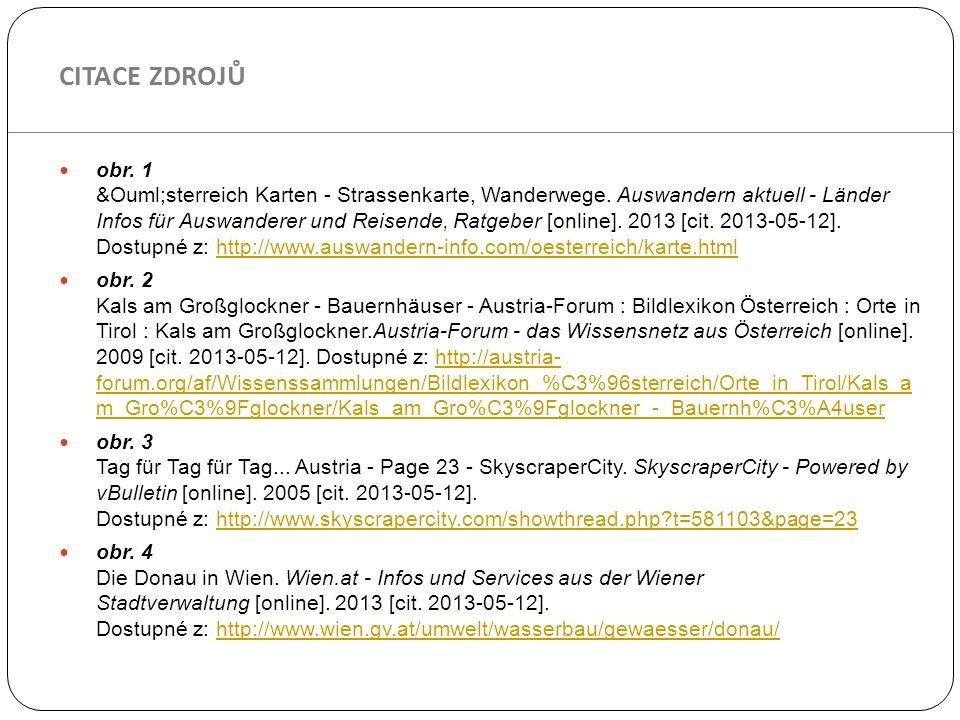 obr. 1 Österreich Karten - Strassenkarte, Wanderwege. Auswandern aktuell - Länder Infos für Auswanderer und Reisende, Ratgeber [online]. 2013 [ci