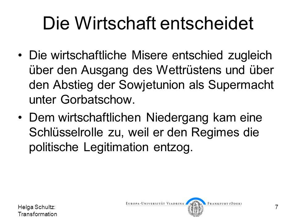 Helga Schultz: Transformation 18 Index der Industrieproduktion Quelle: Eurostat, DB-Research