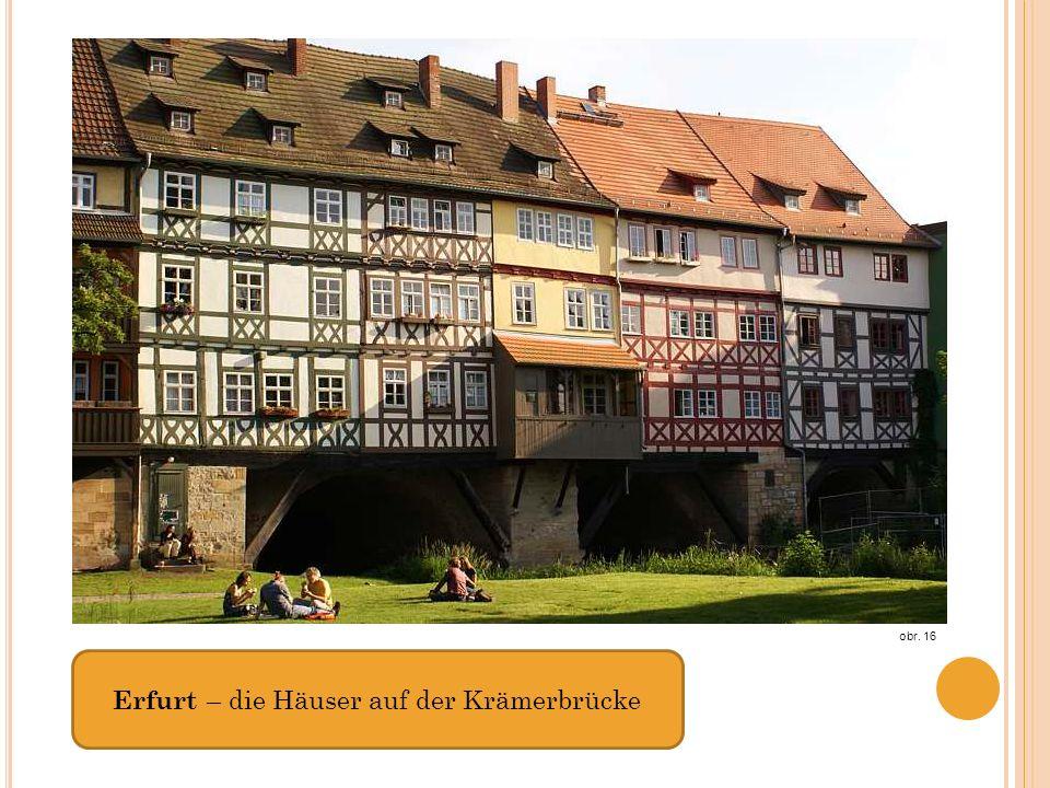 Erfurt – die Häuser auf der Krämerbrücke obr. 16