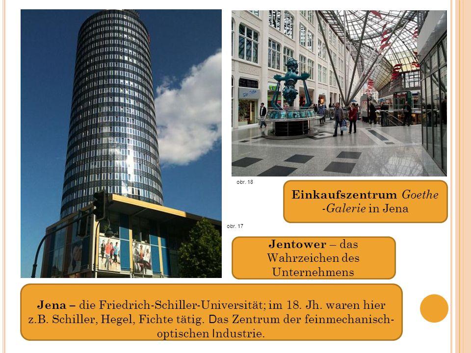 Jena – die Friedrich-Schiller-Universität; im 18.Jh.