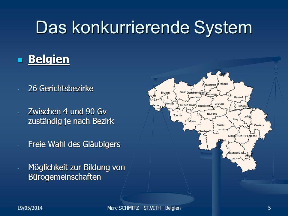 Zur Zeit gibt es den freiberuflichen Gerichtsvollzieher in 20 von 27 EU - Staaten 19/05/2014Marc SCHMITZ - ST.VITH - Belgien6