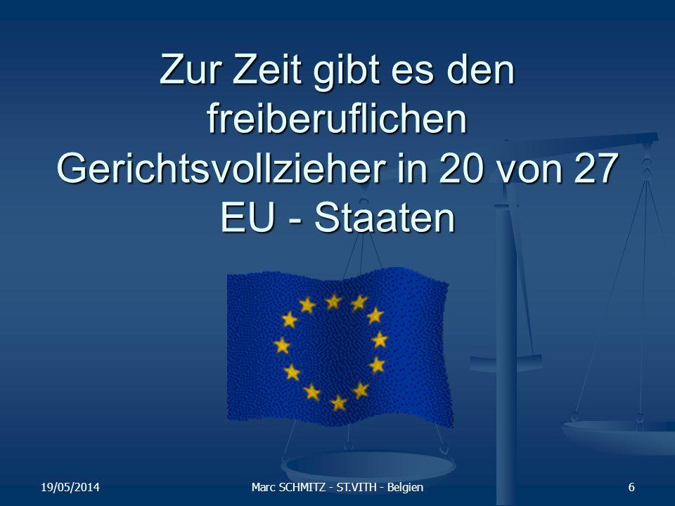 UIHJ - Finanzierung Nur durch Mitgliedsbeiträge - Freiberufler : 50,00 / Gv / Jahr - Beamte : 25,00 / Gv / Jahr - Kollegen aus Entwicklungsländern : 5,00 / Gv / Jahr 5,00 / Gv / Jahr - Pauschalbeträge nach Absprache mit demVorstand demVorstand 19/05/2014Marc SCHMITZ - ST.VITH - Belgien17