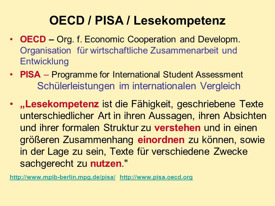 PISA -SCHOCK FÜR DIE KULTUSMINISTER Deutsche Schülerleistungen im internationalen Vergleich erschreckend schlecht.