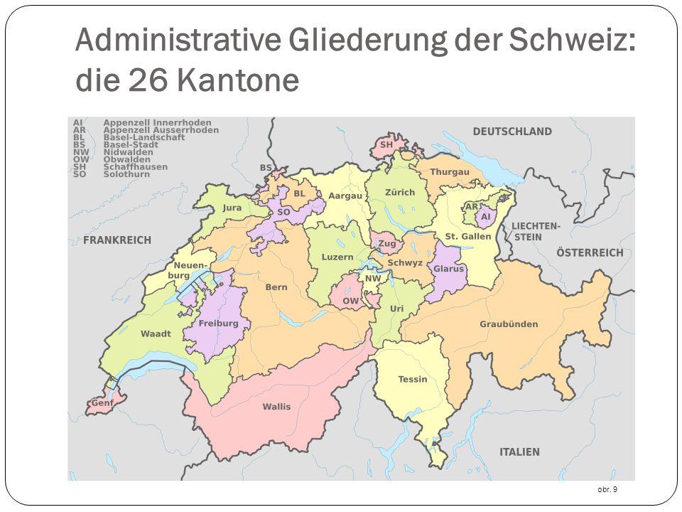 Administrative Gliederung der Schweiz: die 26 Kantone obr. 9