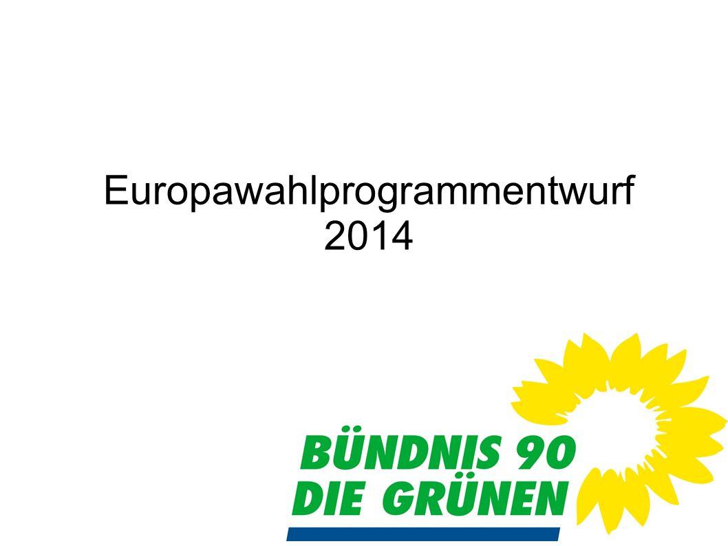 Europawahlprogrammentwurf 2014