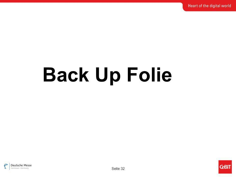 Seite 32 Back Up Folie