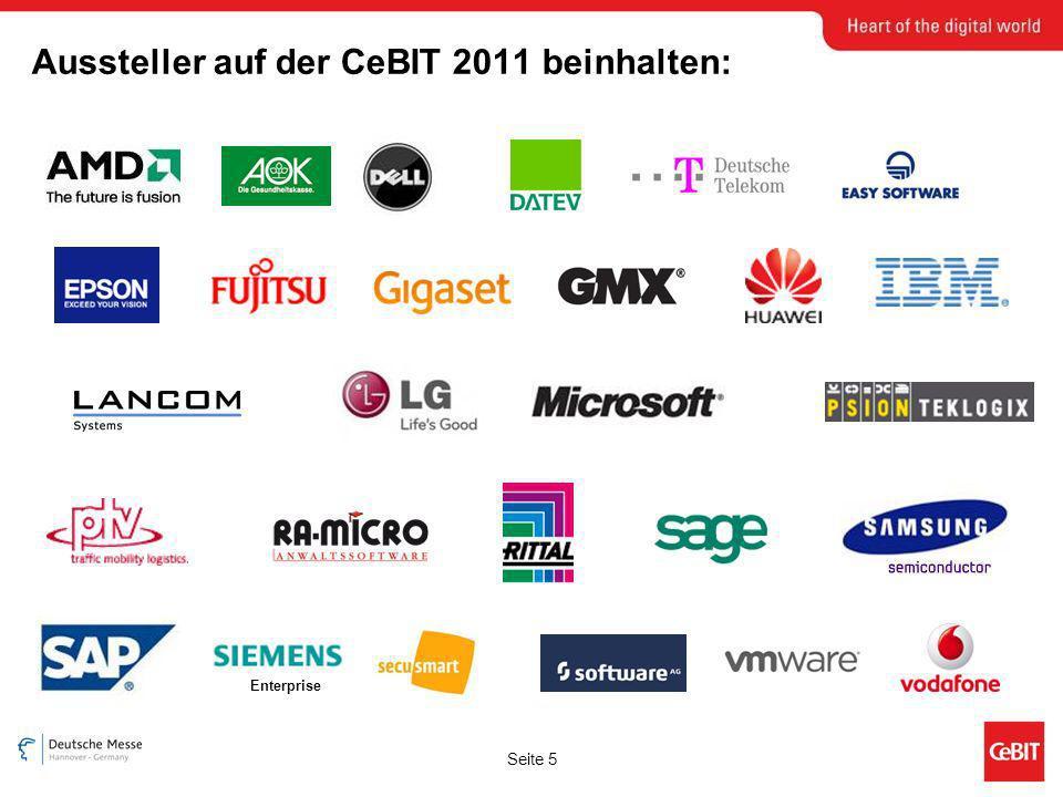 Seite 5 Aussteller auf der CeBIT 2011 beinhalten: Enterprise