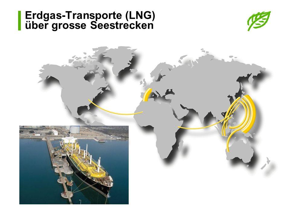 Erdgas-Transporte (LNG) über grosse Seestrecken