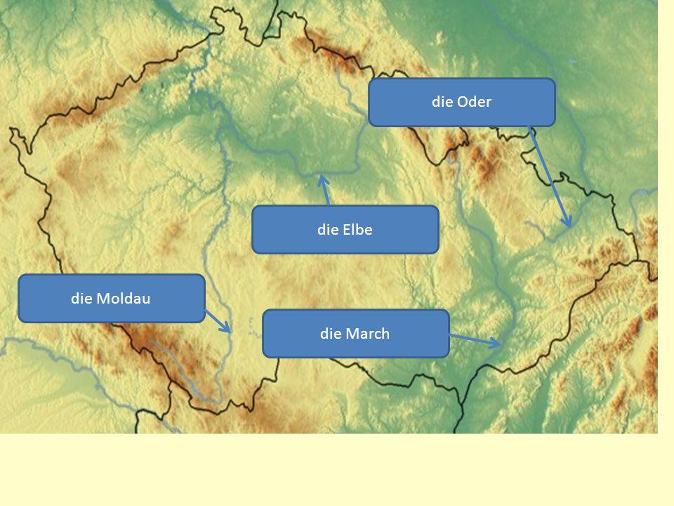 die Moldau die Elbe die March die Oder