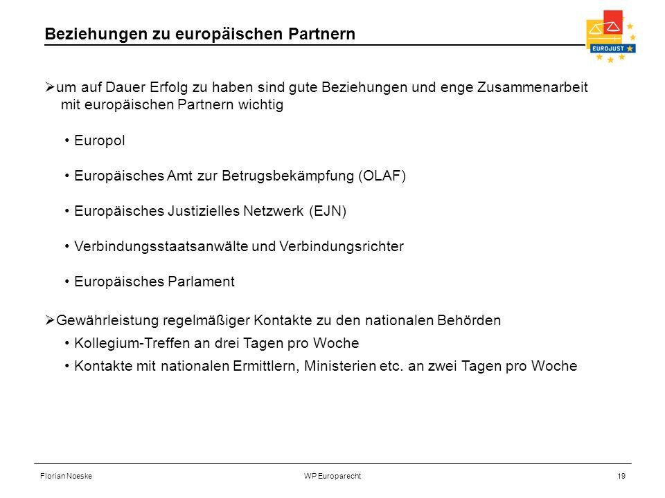 Florian NoeskeWP Europarecht19 um auf Dauer Erfolg zu haben sind gute Beziehungen und enge Zusammenarbeit mit europäischen Partnern wichtig Europol Eu