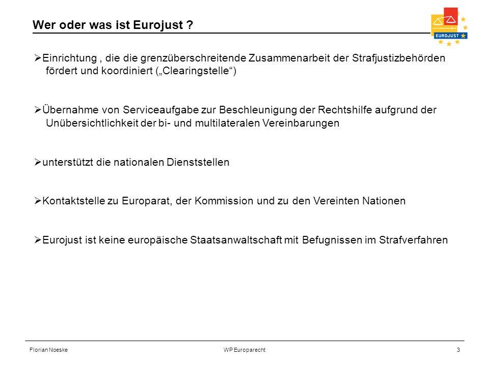 Florian NoeskeWP Europarecht3 Einrichtung, die die grenzüberschreitende Zusammenarbeit der Strafjustizbehörden fördert und koordiniert (Clearingstelle
