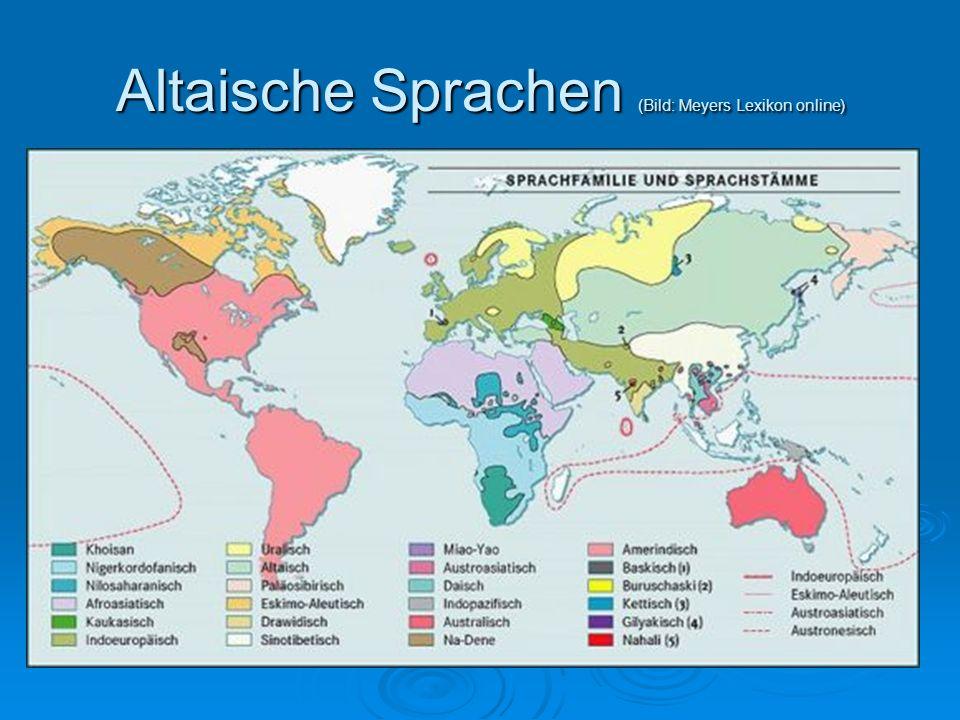 Altaische Sprachen (Bild: Meyers Lexikon online)