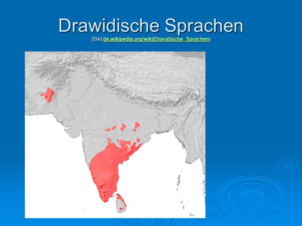 Drawidische Sprachen (Bild:de.wikipedia.org/wiki/Dravidische_Sprachen) de.wikipedia.org/wiki/Dravidische_Sprachen