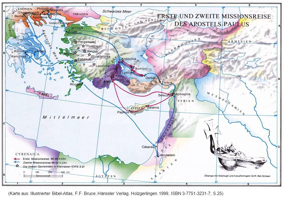 (Karte aus: Illustrierter Bibel-Atlas, F.F. Bruce, Hänssler Verlag, Holzgerlingen 1999, ISBN 3-7751-3231-7; S.25)