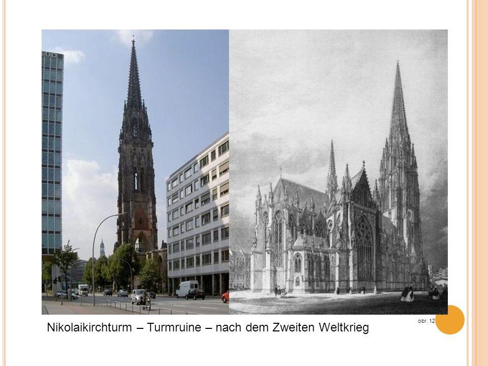 Nikolaikirchturm – Turmruine – nach dem Zweiten Weltkrieg obr. 12