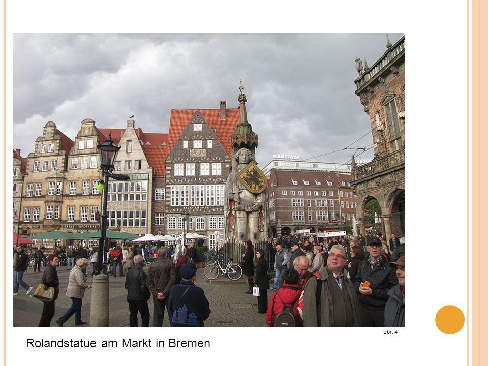Rolandstatue am Markt in Bremen obr. 4