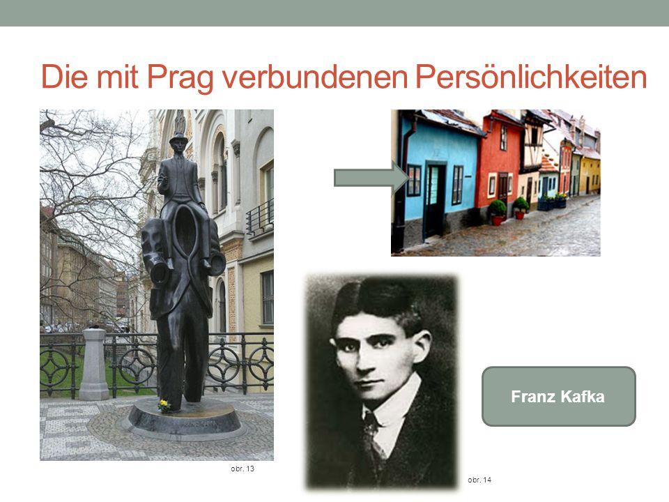Die mit Prag verbundenen Persönlichkeiten obr. 13 Franz Kafka obr. 14