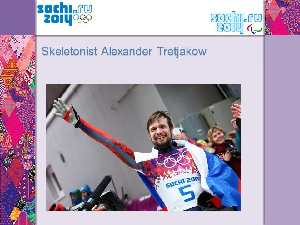 Skeletonist Alexander Tretjakow