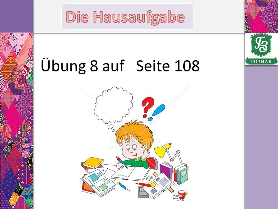 Übung 8 auf Seite 108