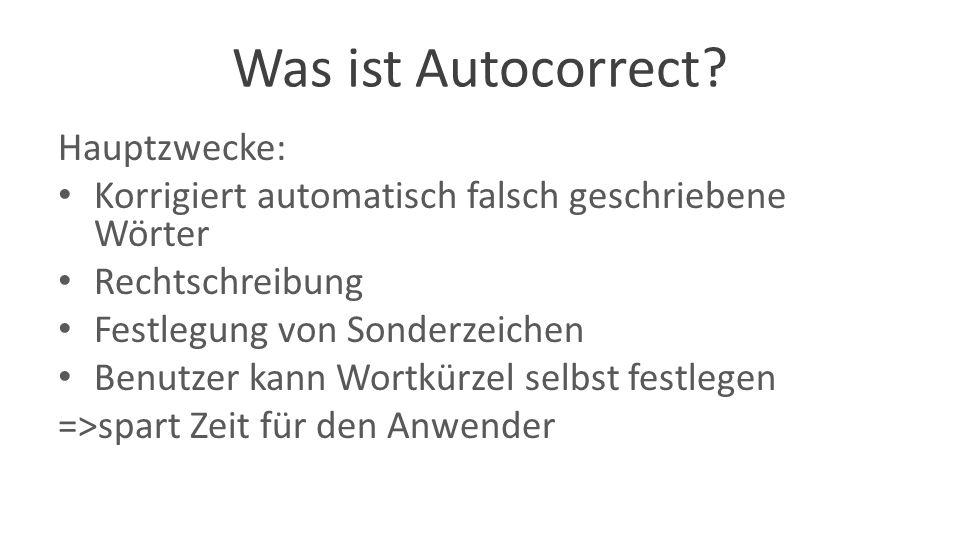Was ist Autocorrect.