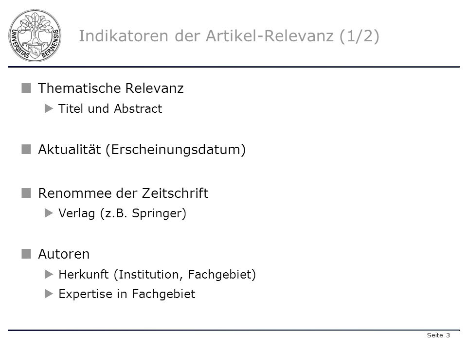 Seite 4 Indikatoren der Artikel-Relevanz (2/2) Indikatoren Journal-Rating oder Ranking Journal-RatingRanking Journal Impact Factor (JIF)* Journal Impact Factor Z.B.: Strategic Management Journal JIF =2,146 (Stand: 1999) Anzahl Zitierungen (Science Citation Index)Science Citation Index * The journal impact factor is a measure of the frequency with which the average article in a journal has been cited in a particular year.