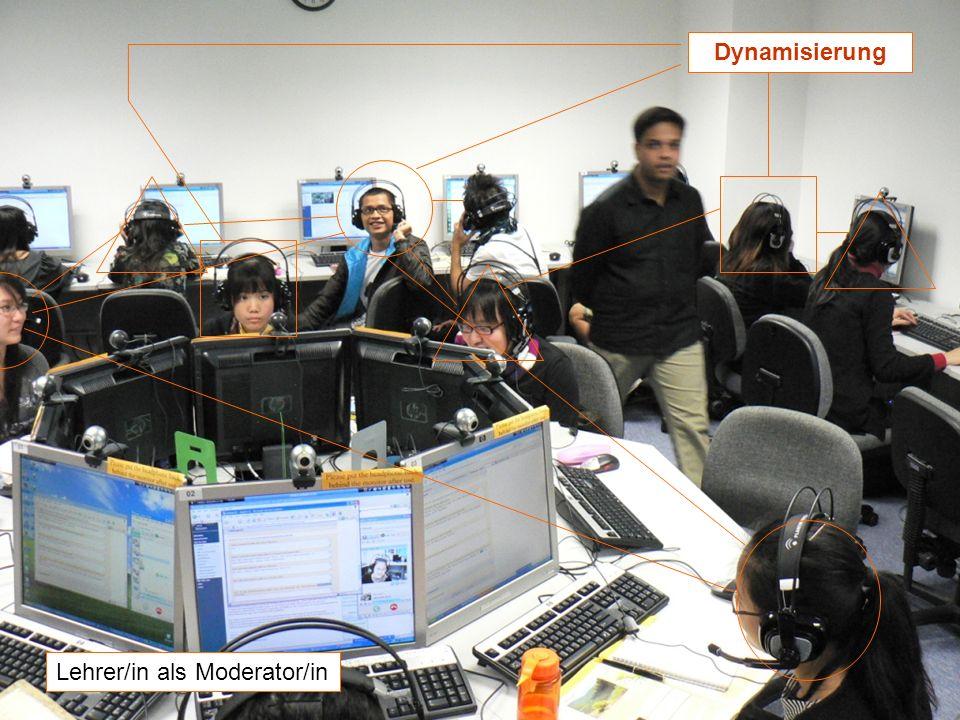 12.-13.12.2008 Hess/Chaudhuri 12 Dynamisierung Lehrer/in als Moderator/in