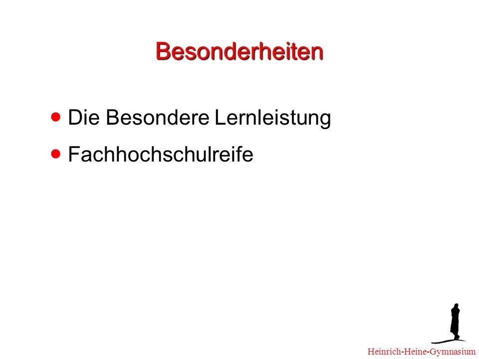 Besonderheiten Die Besondere Lernleistung Fachhochschulreife Heinrich-Heine-Gymnasium