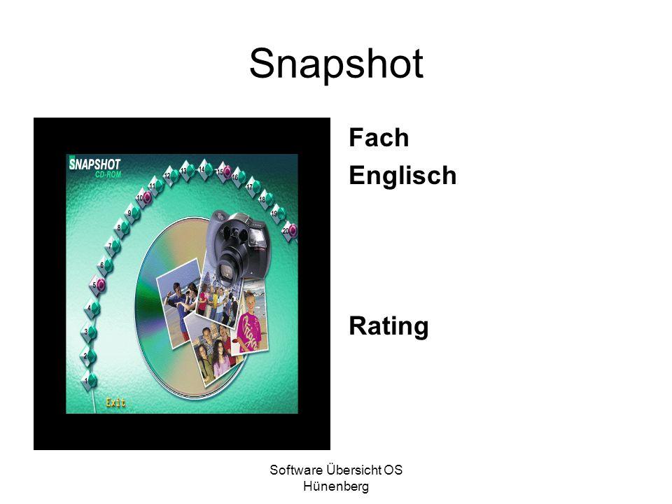 Software Übersicht OS Hünenberg Snapshot Fach Englisch Rating