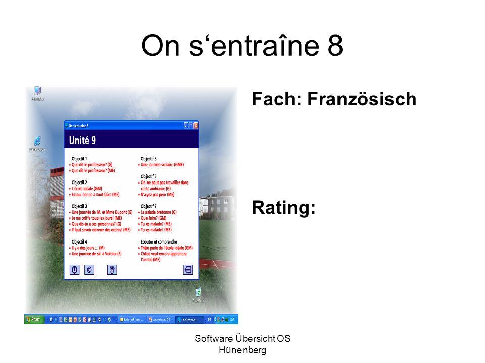Software Übersicht OS Hünenberg On sentraîne 8 Fach: Französisch Rating: