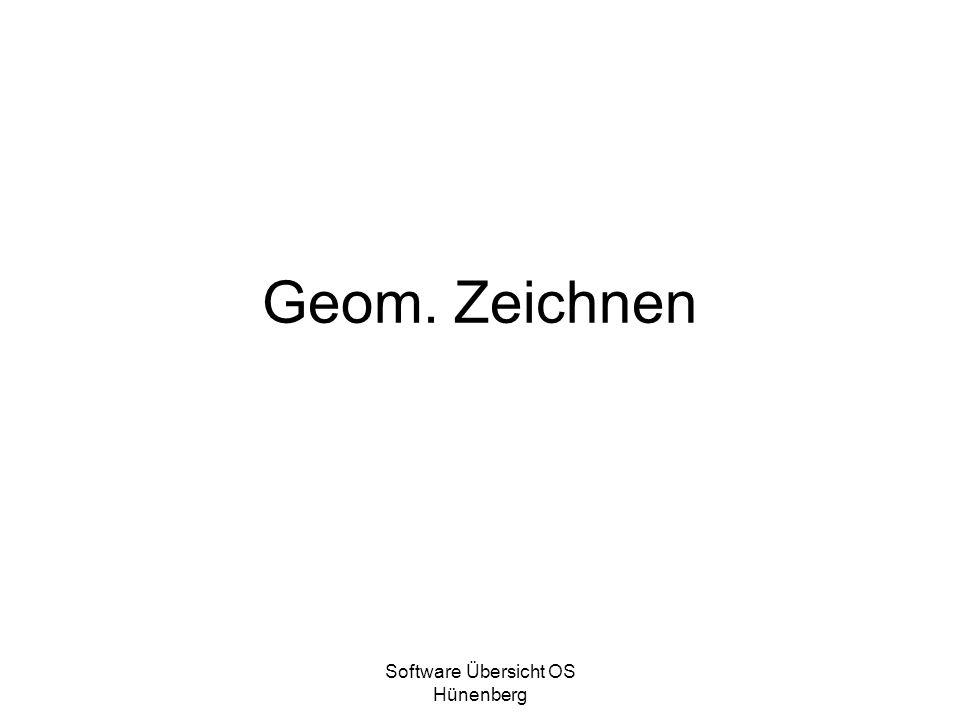 Software Übersicht OS Hünenberg Geom. Zeichnen