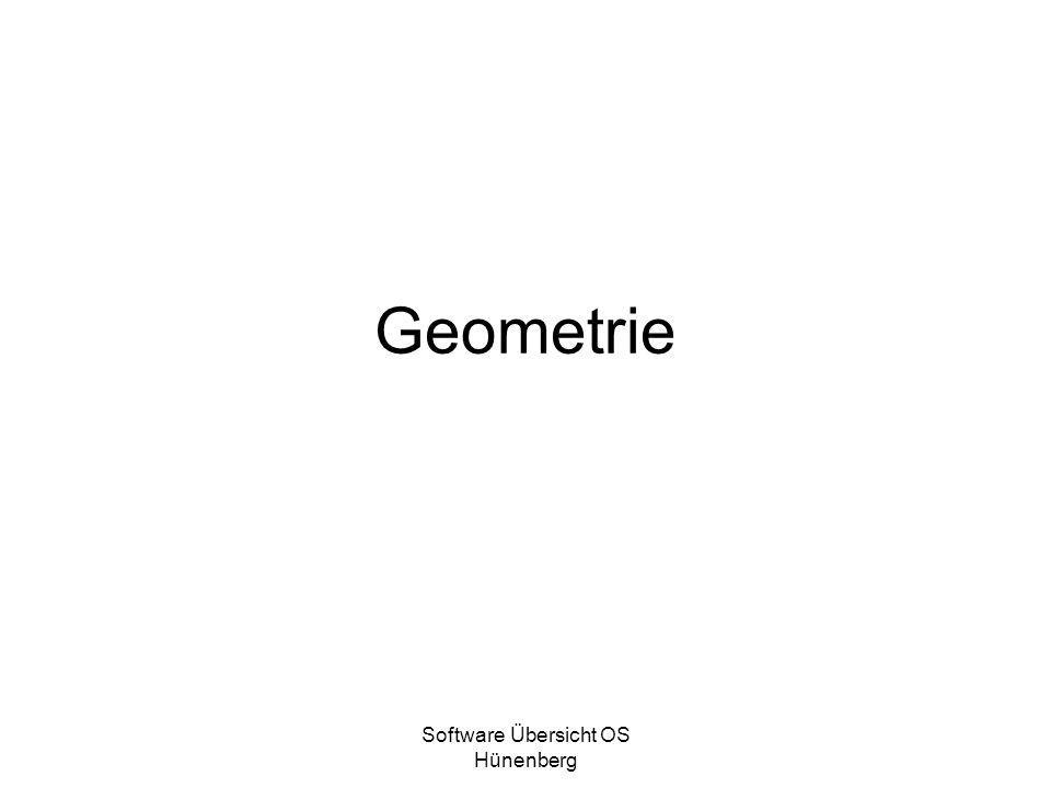 Software Übersicht OS Hünenberg Geometrie
