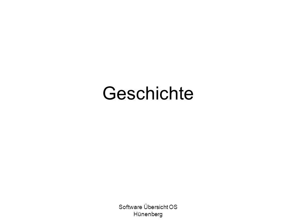 Software Übersicht OS Hünenberg Geschichte