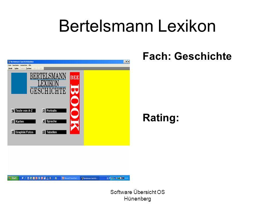 Software Übersicht OS Hünenberg Bertelsmann Lexikon Fach: Geschichte Rating: