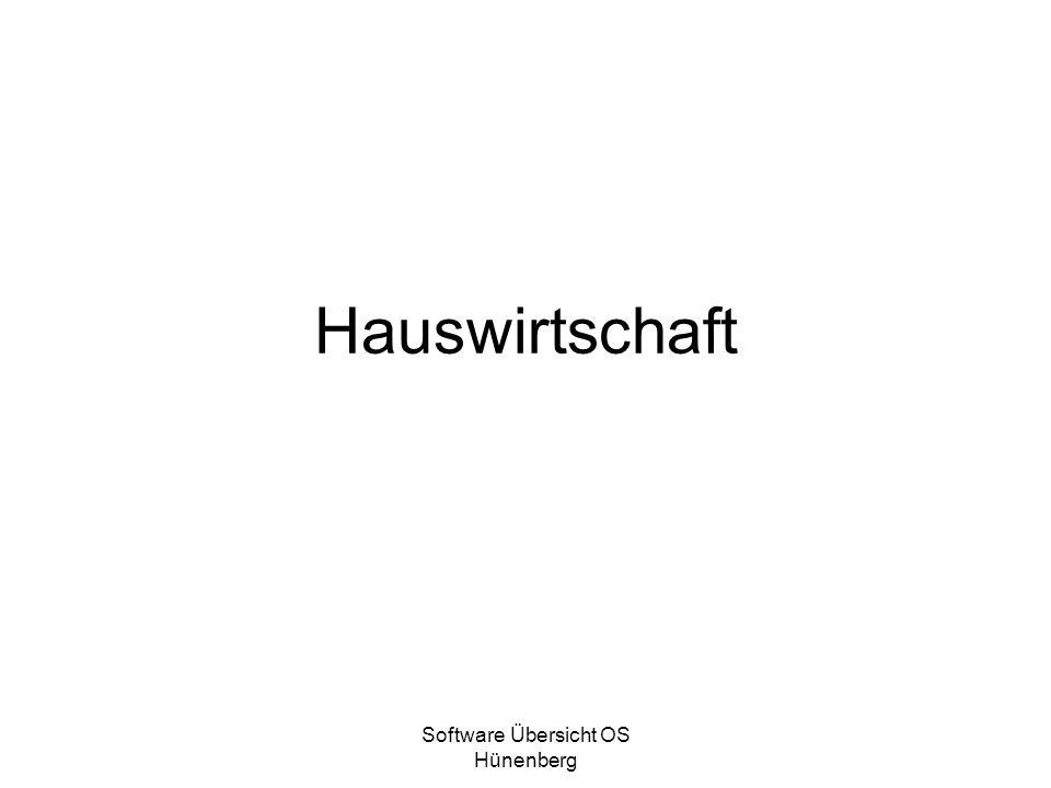 Software Übersicht OS Hünenberg Hauswirtschaft