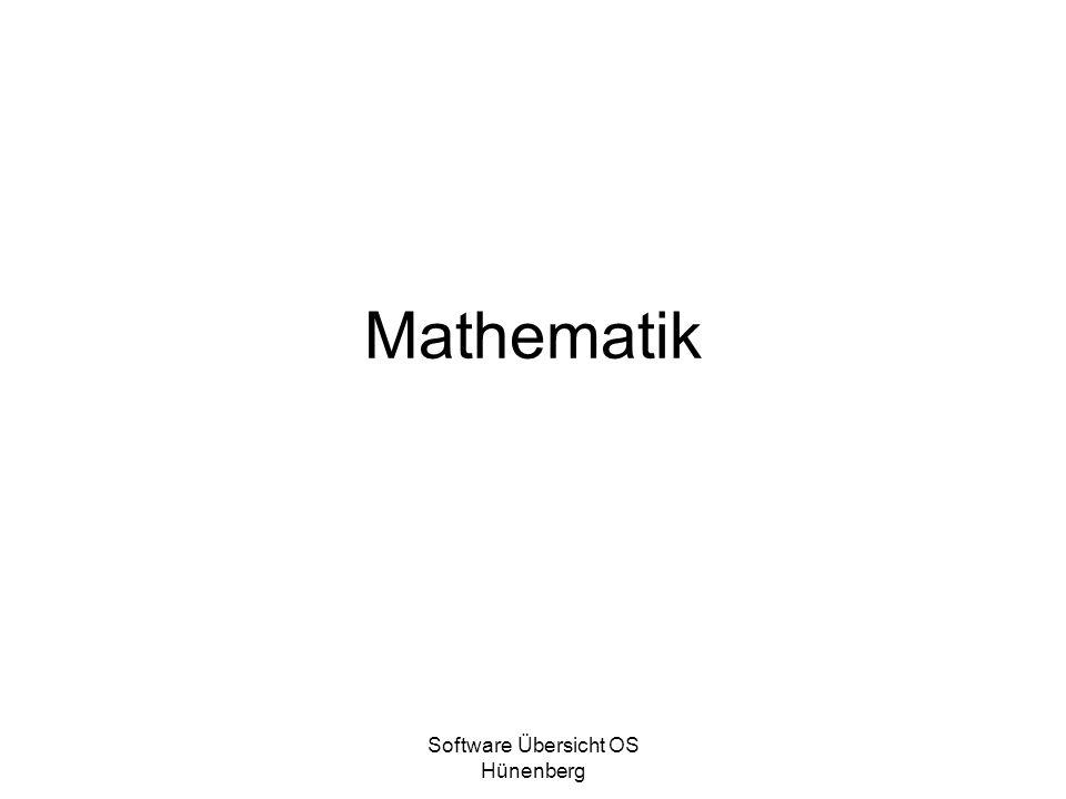 Software Übersicht OS Hünenberg Mathematik