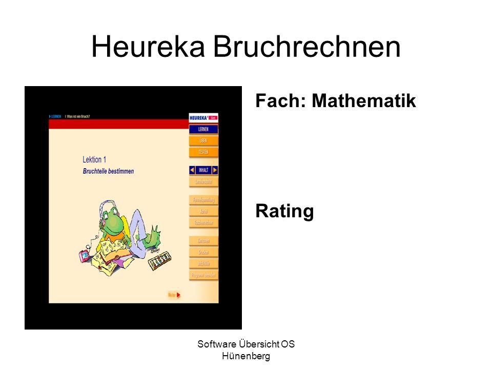 Software Übersicht OS Hünenberg Heureka Bruchrechnen Fach: Mathematik Rating