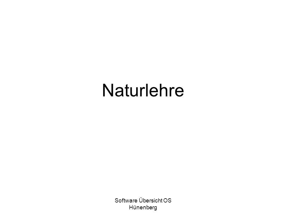 Software Übersicht OS Hünenberg Naturlehre