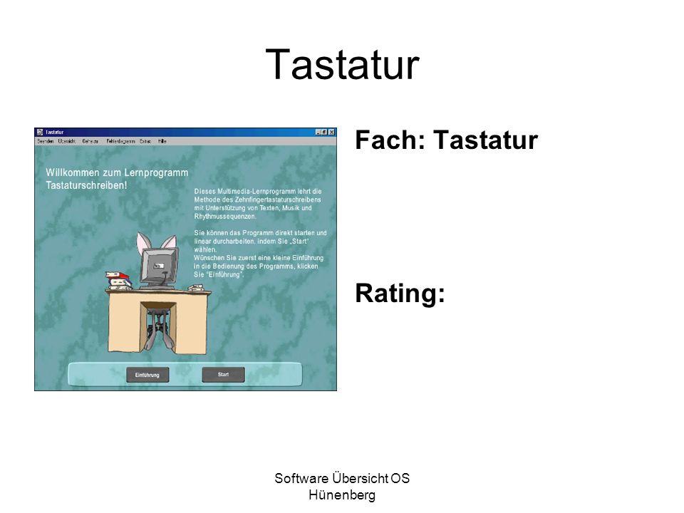 Software Übersicht OS Hünenberg Tastatur Fach: Tastatur Rating: