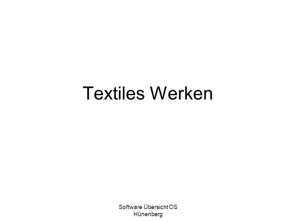 Software Übersicht OS Hünenberg Textiles Werken