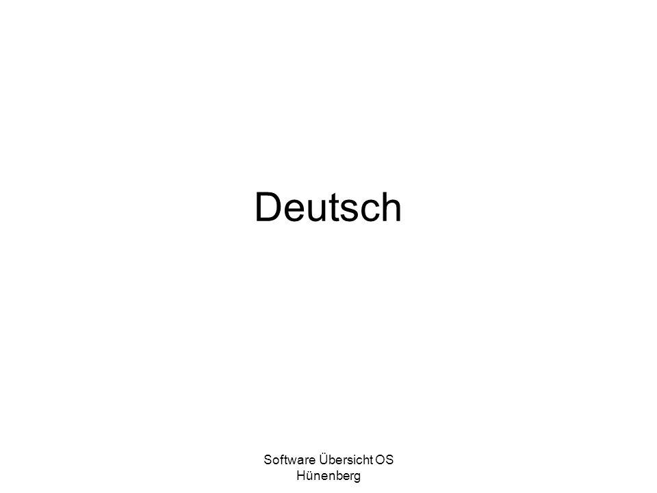 Software Übersicht OS Hünenberg Deutsch