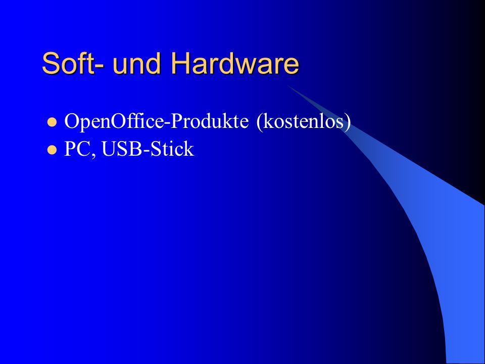 Soft- und Hardware OpenOffice-Produkte (kostenlos) PC, USB-Stick