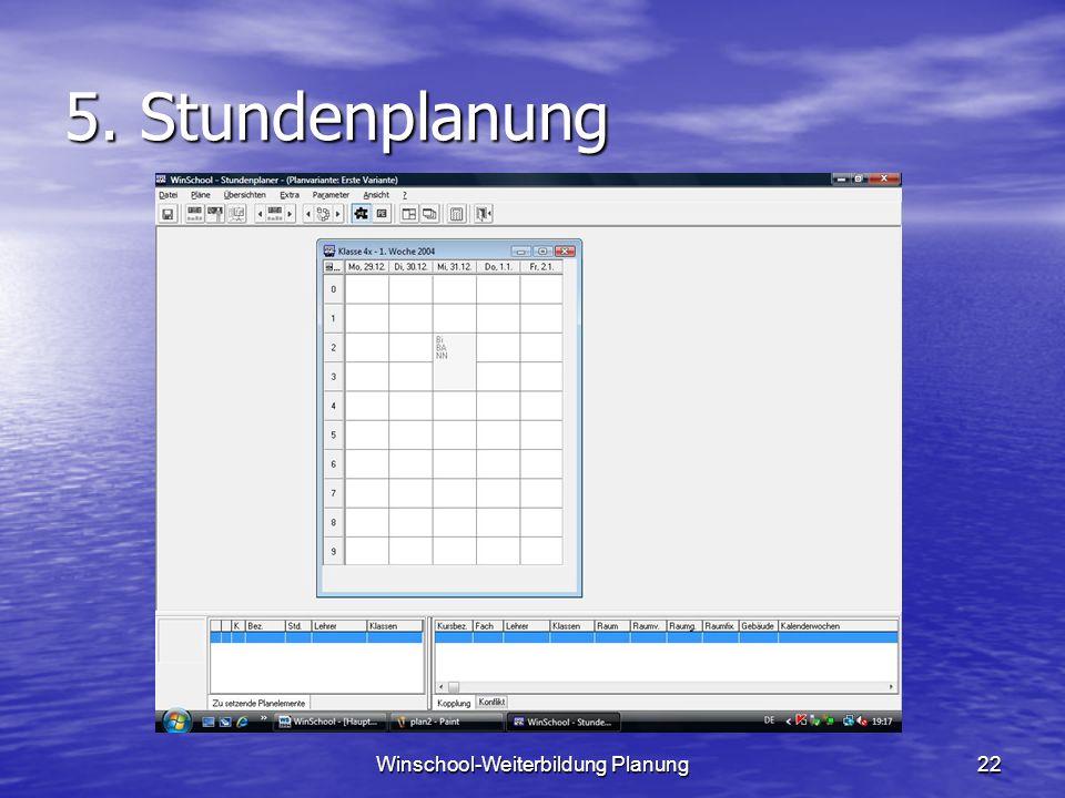 Winschool-Weiterbildung Planung22 5. Stundenplanung