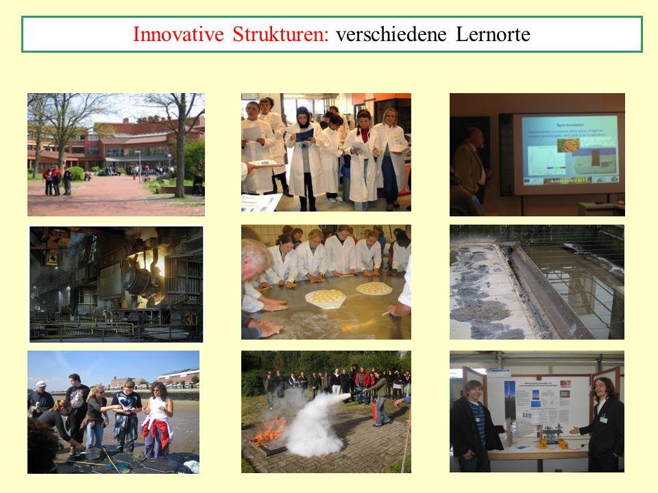 Innovative Strukturen: verschiedene Lernorte