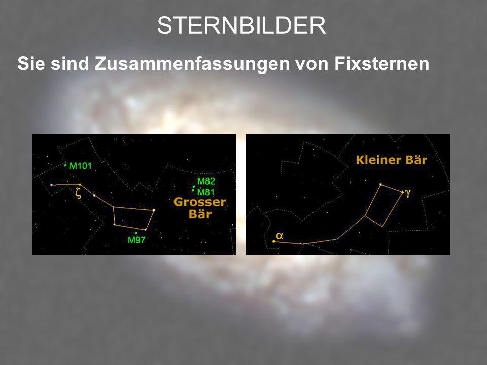 FIXSTERNE – PLANETEN FIXSTERNE selbstleuchtende Objekte PLANETEN beleuchtete Objekte