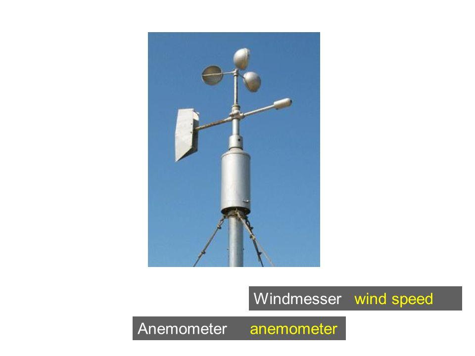 Anemometer anemometer Windmesser wind speed