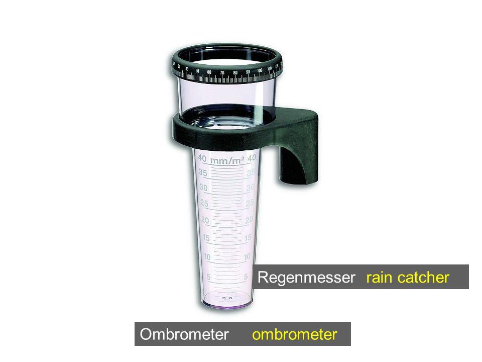 Ombrometer ombrometer Regenmesser rain catcher